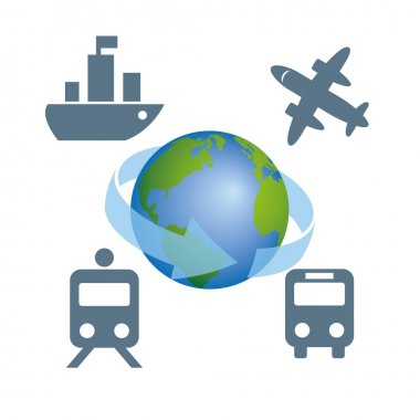 globe transportation vector image