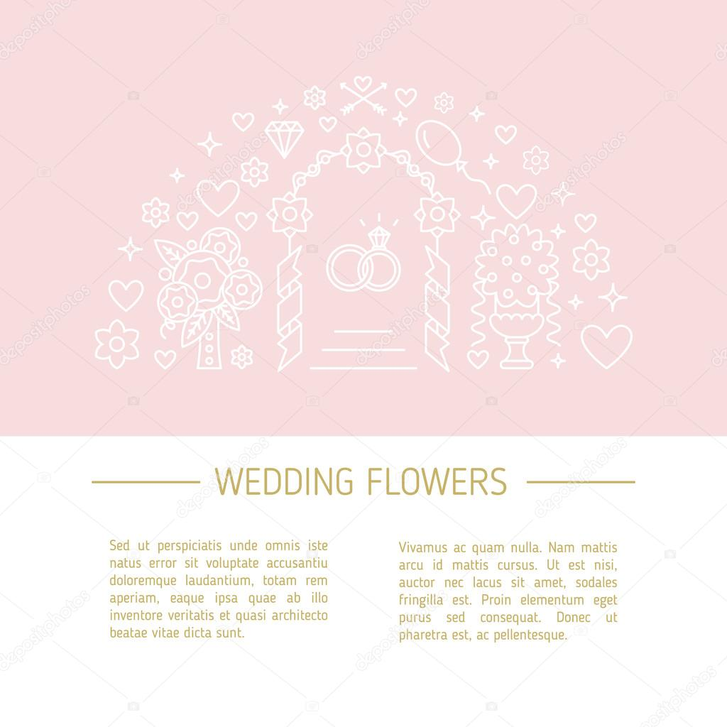 Vector template for Florist company or other Wedding business.