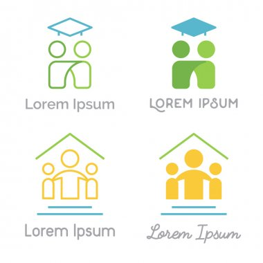 Set of vector logos related to education and learning.