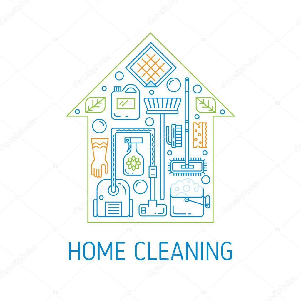 House cleaning vector concept stock vector vectorsama for House cleaning stock photos