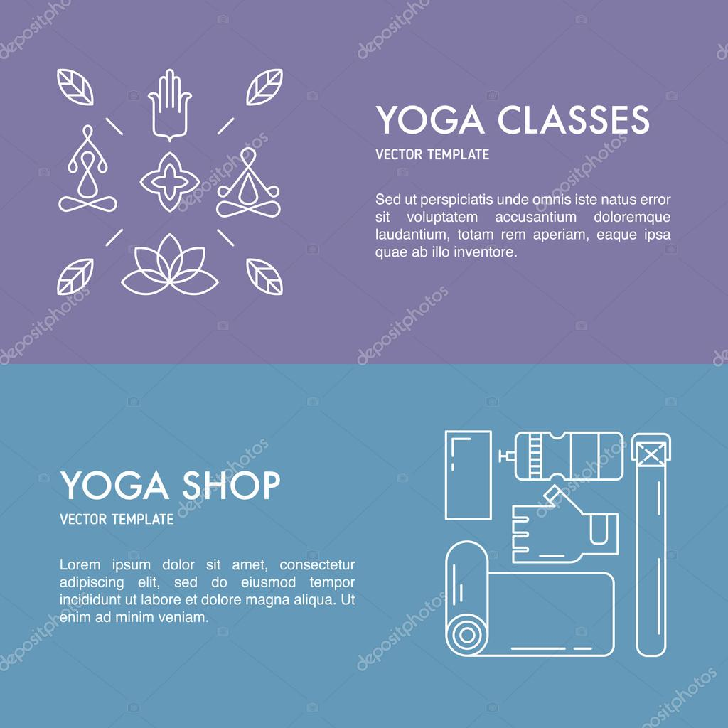 Collection of yoga banners.