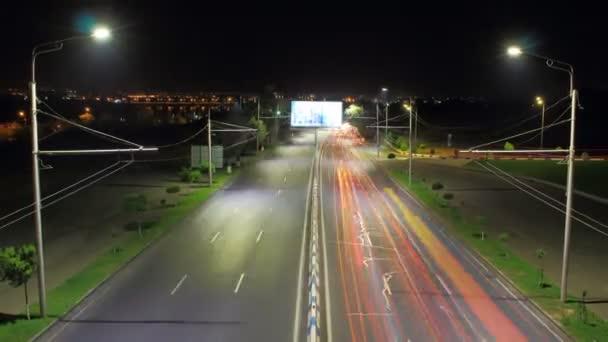 4 k technologie hyperlapse silničního provozu v noci