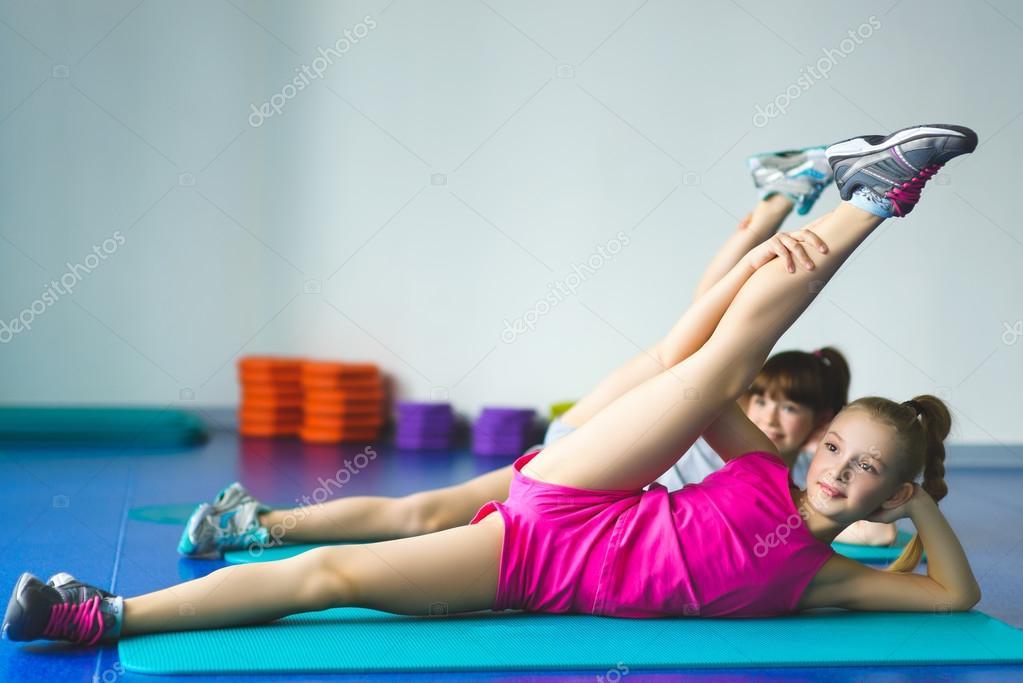 from Kamren lttle girls doing yoga