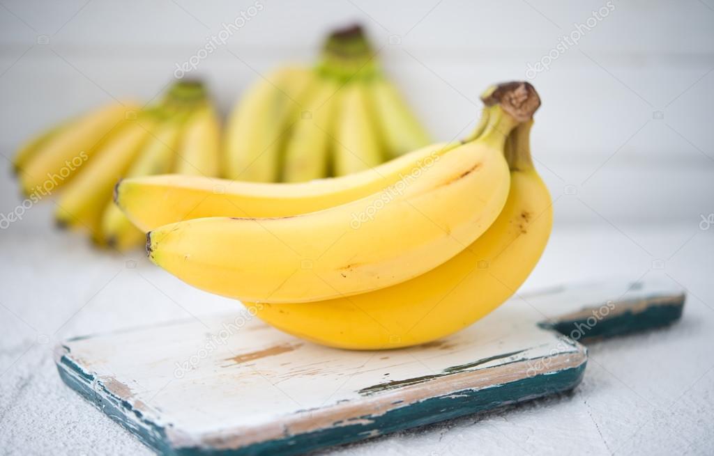Fresh sweet yellow bananas