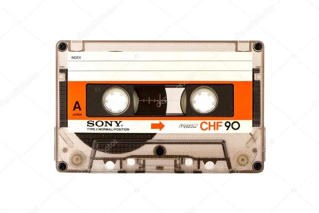 Beyaz Arka Plan üzerinde Izole Sony Ses Kompakt Cassete Yan A