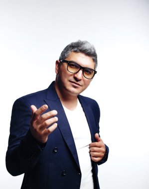 Stylish man in glasses