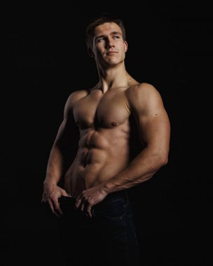 Muscle sexy young man
