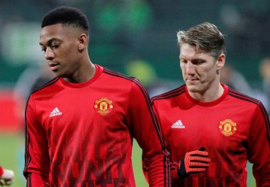 Anthony Martial and Bastian Schweinsteiger   Manchester United
