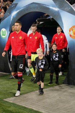 Chris Smalling and David de Gea Manchester United