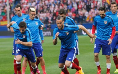 Gabi , Mario Suarez and Juanfran Atletico Madrid