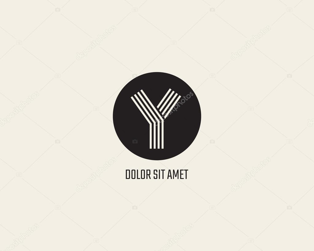 letter y logo design template stock vector