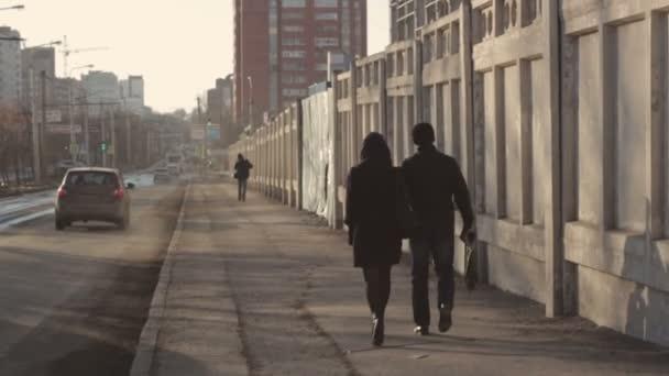 Pěší chůze na ulici ruské město