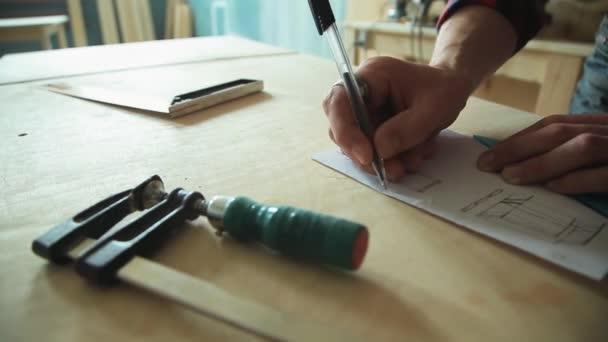 Výstavba, kresba na papíře