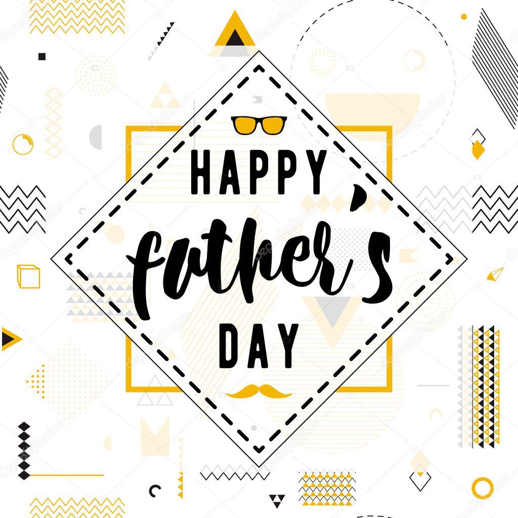 Ojców Szczęśliwy Dzień życzenia Projekt Wektor Tle Na Wzór