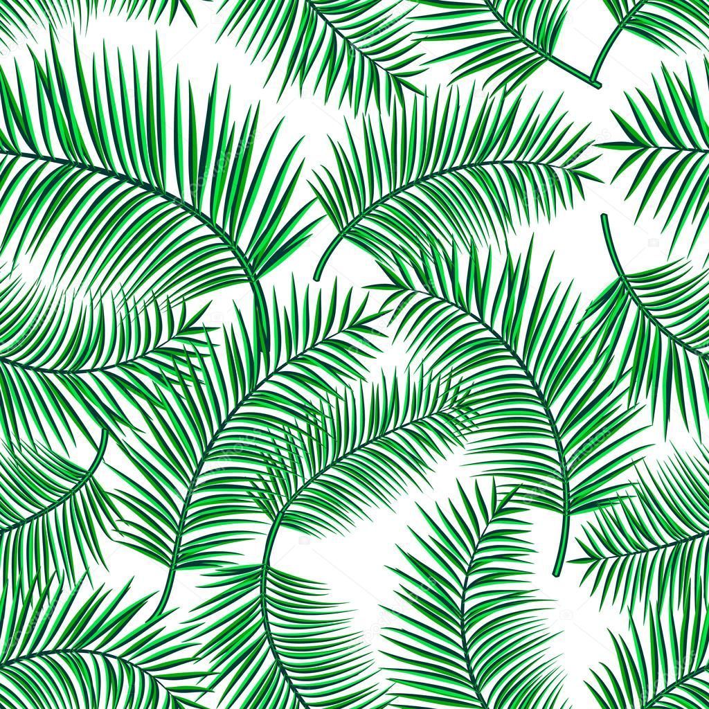 Summer Decor Retro Vector Illustration Of Exotic Tropical Seamless