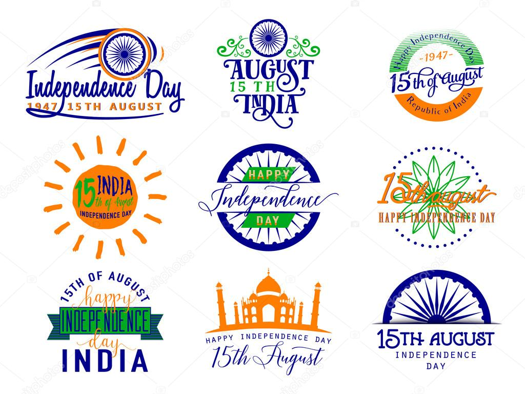 Vector illustration of India independence day. Felicitation 15th ...