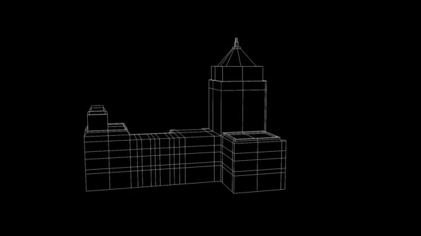 Building in nice Wireframe Animation