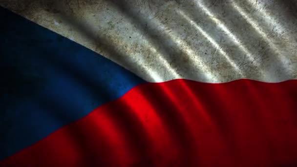 Česká vlajka v pohybu