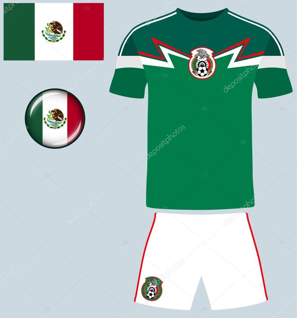 camiseta de fútbol de México — Archivo Imágenes Vectoriales ... 2c73d0768eca5