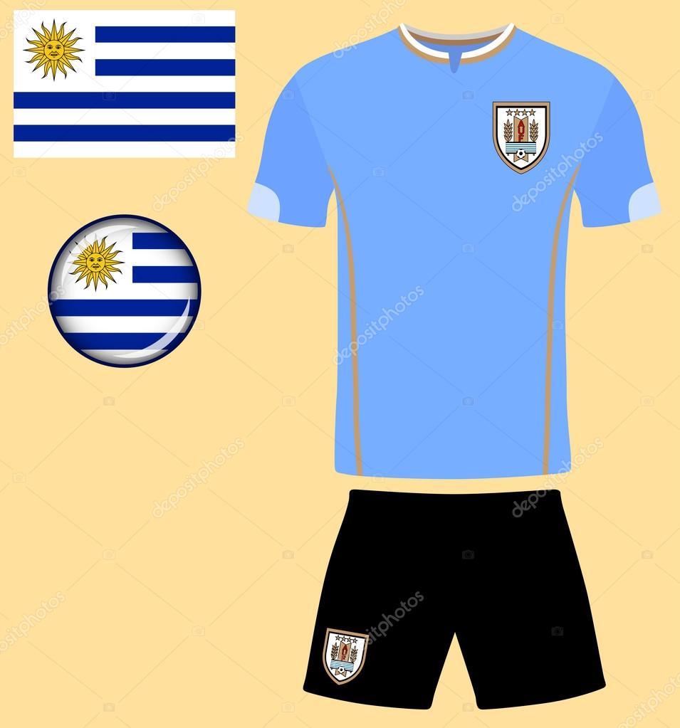 99c0b0a47b114 Camiseta de fútbol de Uruguay– ilustración de stock
