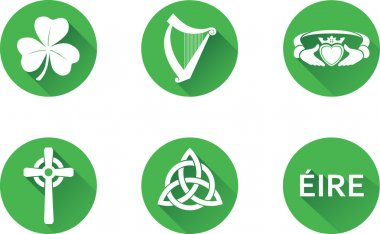 Ireland Flat Icon Set