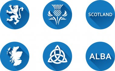 Scotland Flat Icon Set