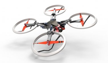 3D quadcopter human play with quadcopter.
