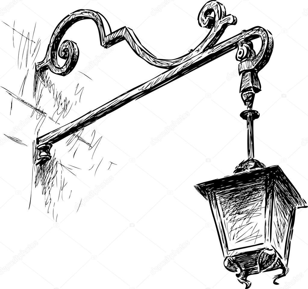 Old street light — Stock Vector © samakarov@mail.ru #100476500