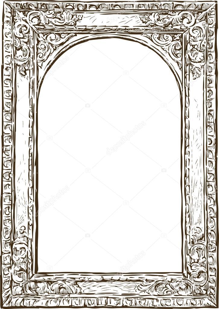 Old Wooden Frame Stock Vector Samakarov At Mailru 100476600
