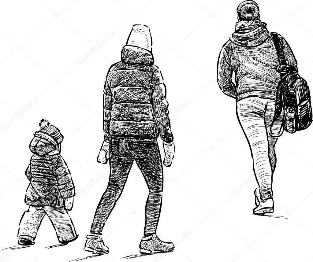 lässige Stadt Fußgänger — Stockvektor © samakarov@mail.ru #101724252
