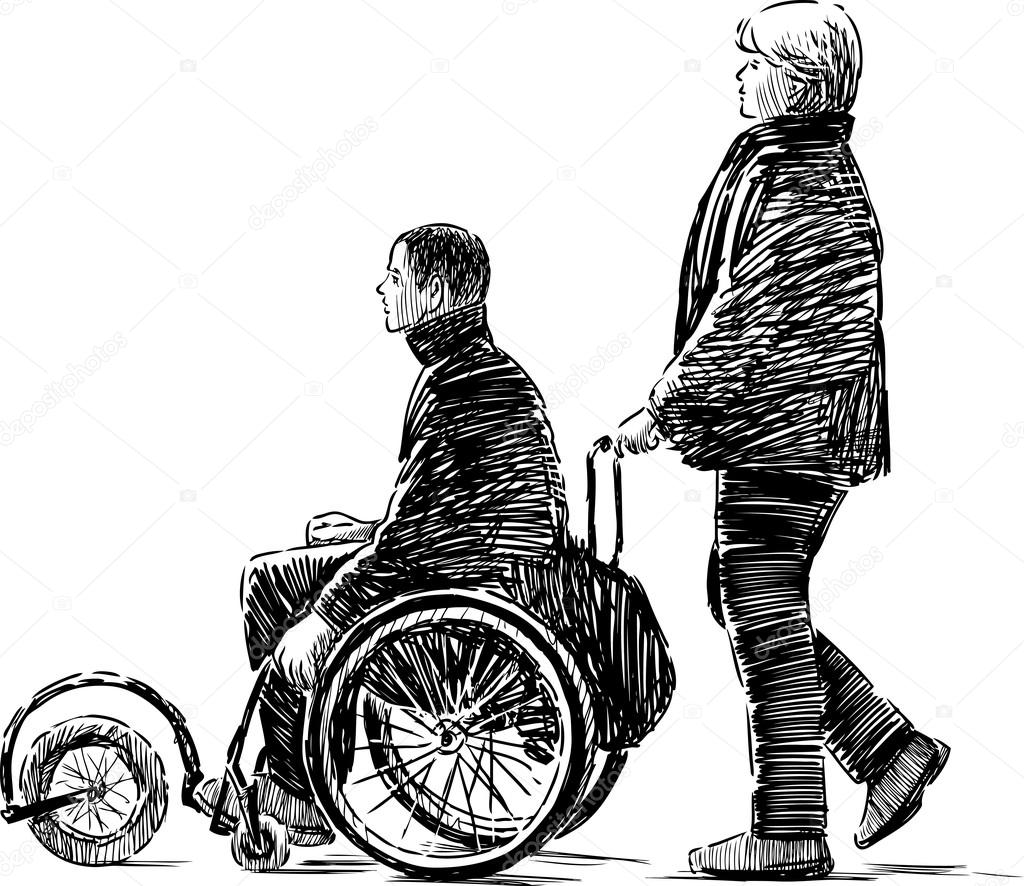 Person In Wheelchair Drawing Person In A Wheelchair