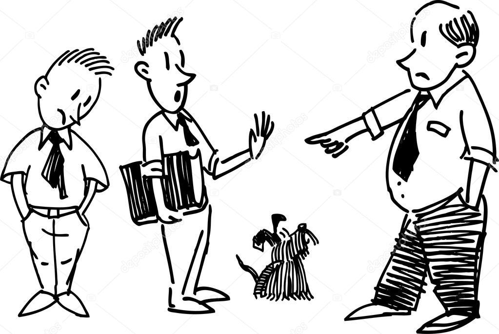 Capo Ufficio Disegno : Uomini in ufficio u2014 vettoriali stock © samakarov@mail.ru #103542604