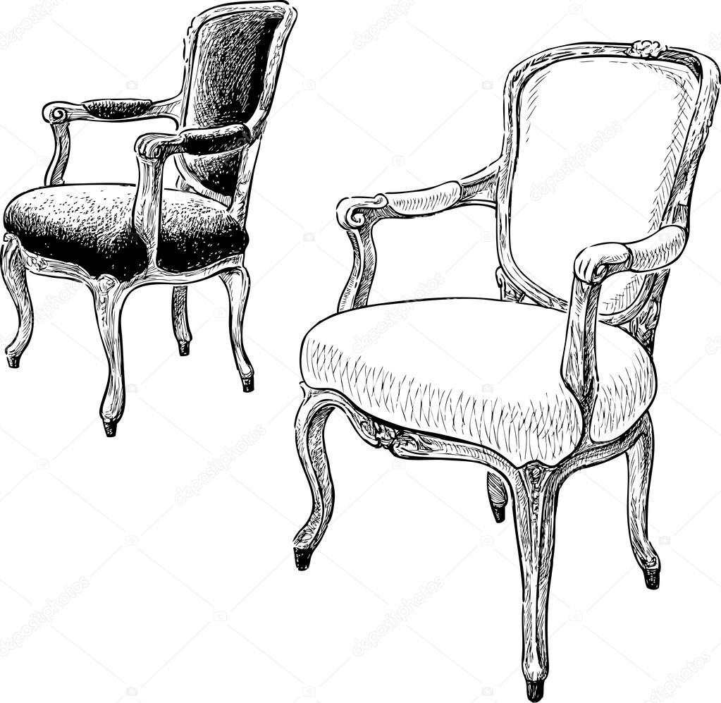 Antique Chairs Sketch Stock Vector 169 Samakarov Mail Ru