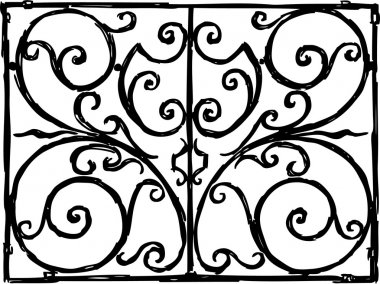 decorative grille sketch