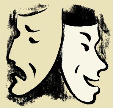 masks of sadness and joy