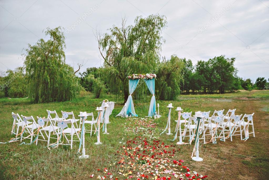Beautiful wedding set up wedding decor on the lawn wedding arch beautiful wedding set up wedding decor on the lawn wedding arch chairs with junglespirit Choice Image