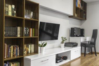 Bookshelfs in living room