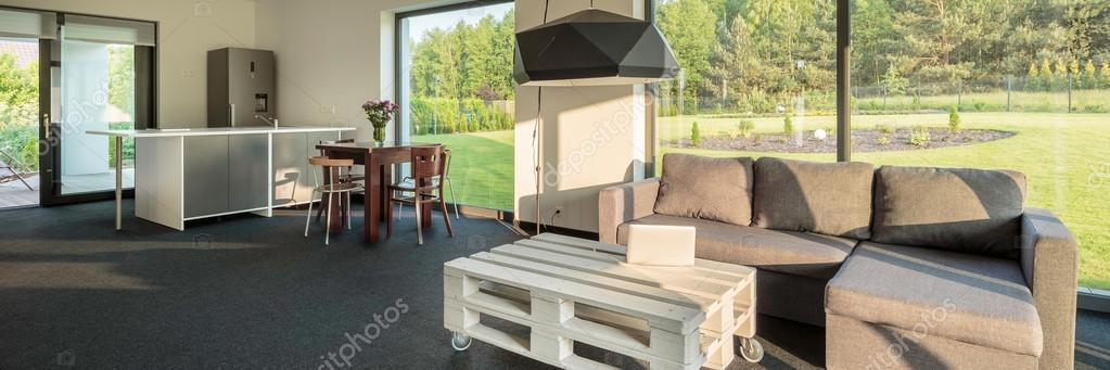 cocina con sala de estar — Fotos de Stock © in4mal #114344294