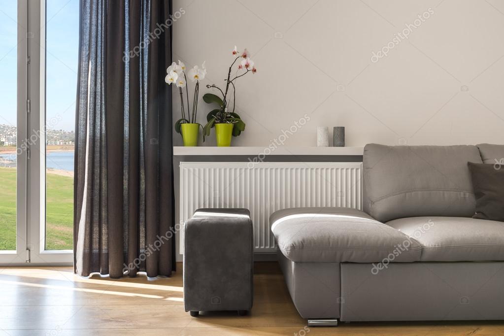 Nappali szoba gyönyörű kilátás ötlet — Stock Fotó © in4mal #119589556