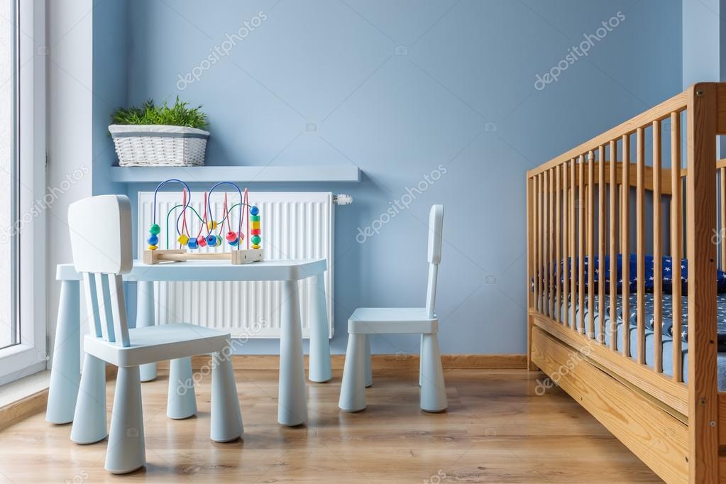 Slapen en spelen baby ruimte idee u stockfoto in mal