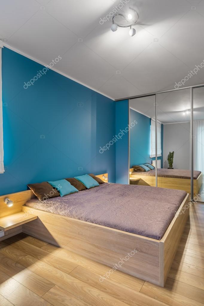 Wit en blauw slaapkamer idee — Stockfoto © in4mal #119946548