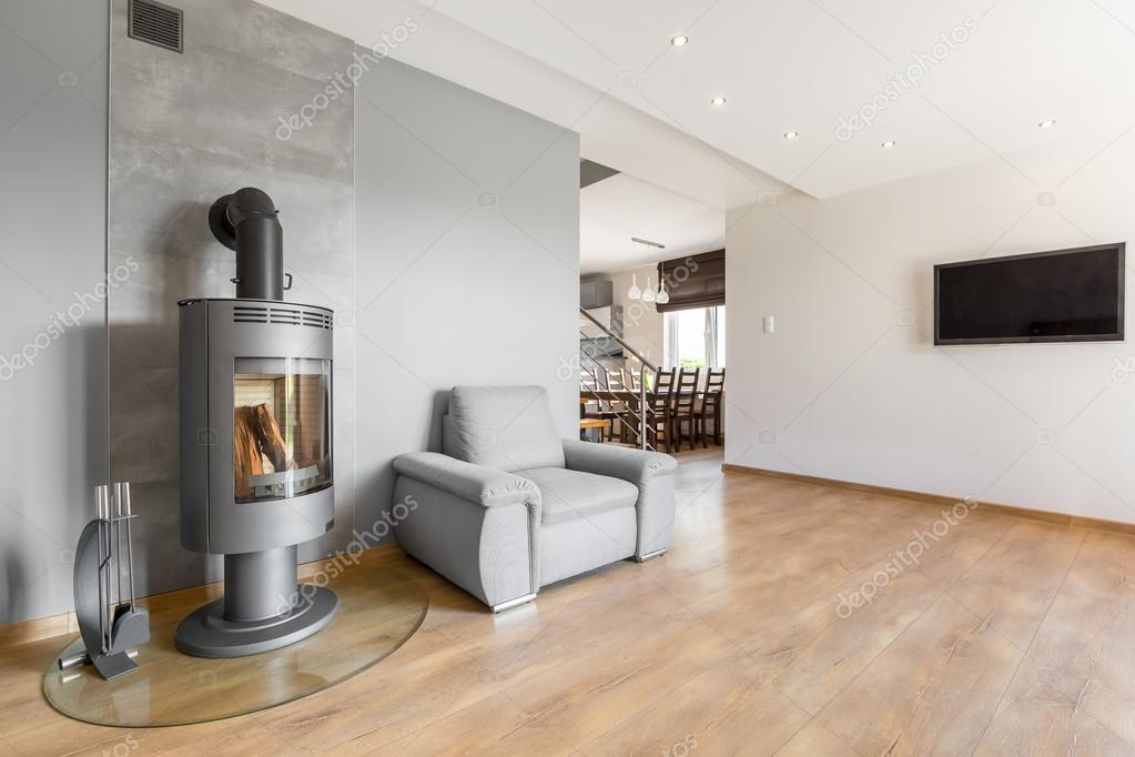Nuovo design televisione in salotto — Foto Stock © in4mal #120996596