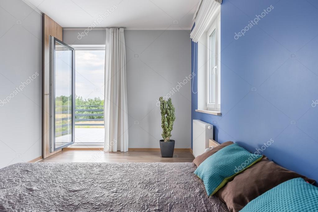 Slaapkamer met een ontspannen sfeer — Stockfoto © in4mal #121104256