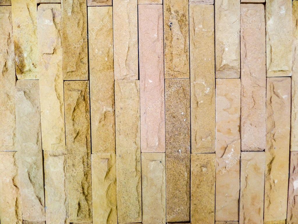 Sten kakel vägg och jorden ton färg — Stockfotografi ...