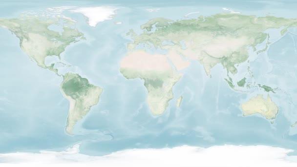 Geografie pozemní mapa digitální globální svět mapa zpomalení pohybu zleva doprava, Prvky tohoto obrazu poskytla NASA