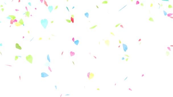 částice barevné pastelové sakura listy pomalu padající točení a vybledlý
