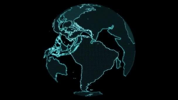 digitální mapa světa a mřížka plné šířky a délky laserového skenování
