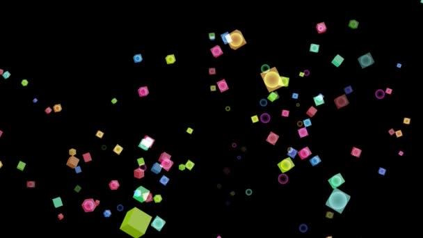 Würfel süße Pastellfarbe und ein paar Kristallkugeln Glas innen