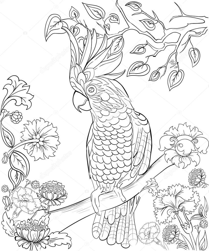 Elle çizilmiş Mürekkep Desen Boyama Için Boyama Kitabı Boyama Için