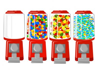 Vending machine vector Illustration flat Design Elements.